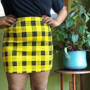 Dolls kill mini plaid skirt